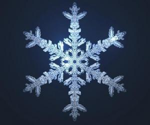 aMathematically models snowflake. Photo credit University of Wisconsin at Madison