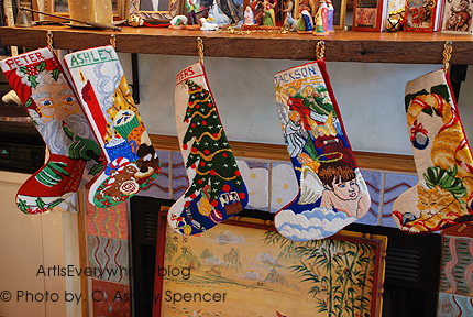Christmas Stockings. Photo by C. Ashley Spencer/ ArtIsEverywhere blog