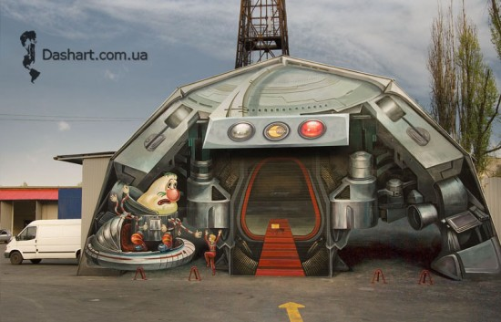 3D-street-art by Night Express via Oddity Central, as seen on Art Is Everywhere