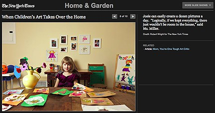 When children's art takes over via New York Times, as seen on Art-Is-Everywhere