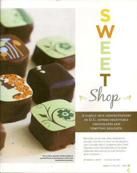 Fleurir chocolates via Energy of the City on Art Is Everywhere