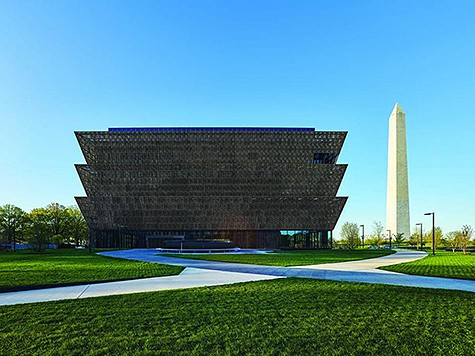 NMAAHC museum building on AIE