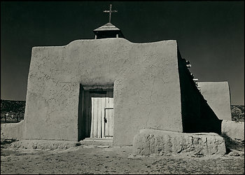 Ansel Adams\' Chapel Near Hernandex, New Mexico, David H. Arrington Collections/ Ansel Adams Trust