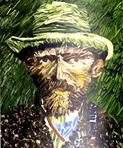 Vincent Van Gogh Vegetable art by Ju Duoqi