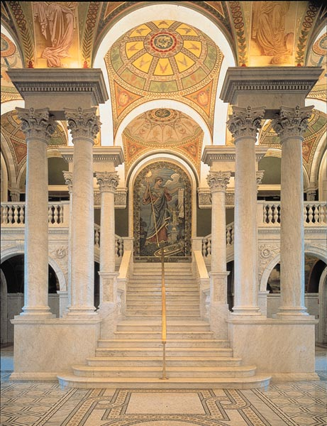 Library of Congress, Thoma Jefferson Room and murals. LOC
