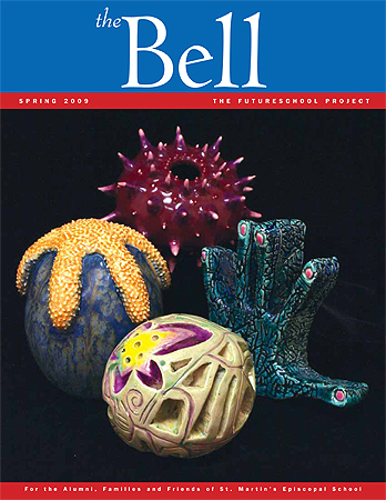 2009 spring Bell cover. Ceramics by St. Martins\' students