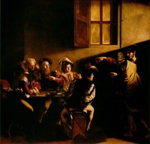The Calling of St. Matthew by Caravaggio (1599-1600)