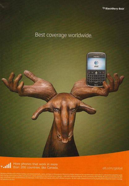 AT&T Moose Hand Ad