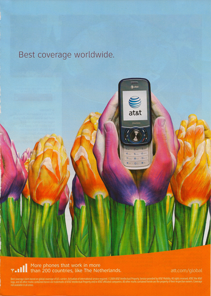 AT&T Tulip Hands Ad
