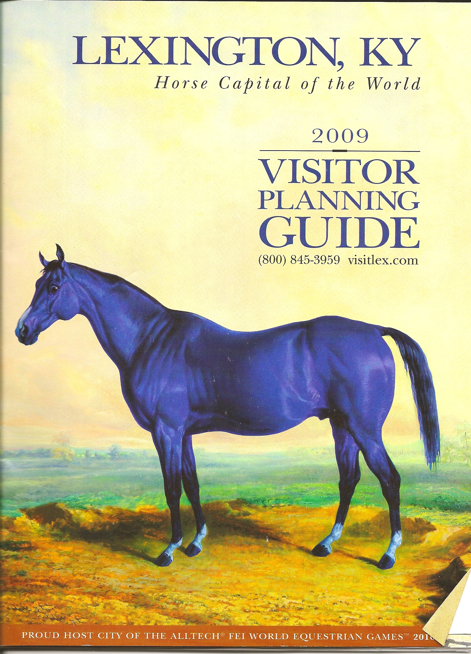 blue-horse-lexington-guide. Painting by Edward Troye