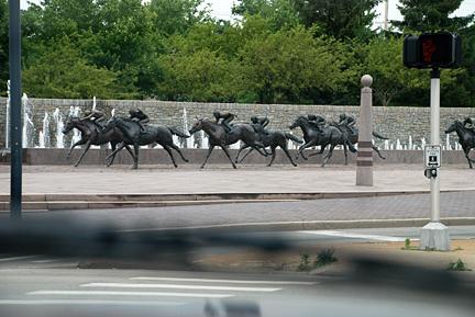 Lexington horse sculptures. Photo by C. Ashley Spencer