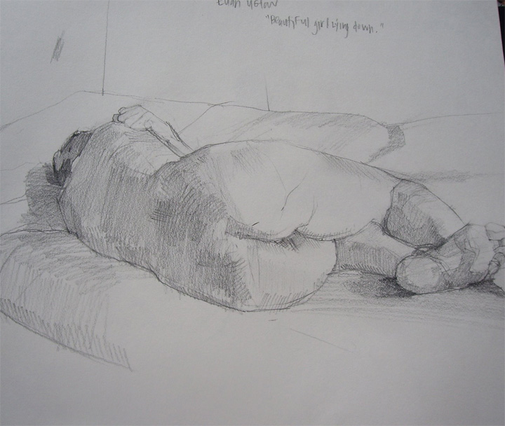 chelsea-james-life-drawing via The Design Files blog