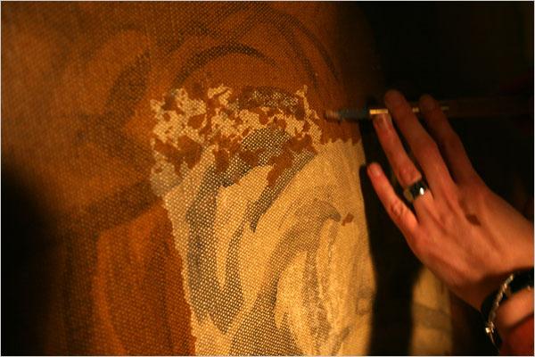 Restorers Carefully Treat Murals at Rockefeller Center. NY Times