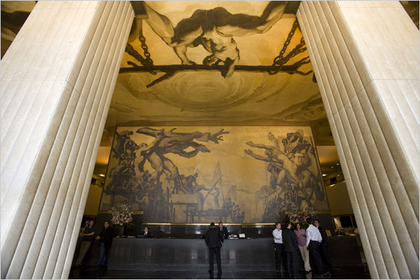 Restoration of Rockefeller Center Murals. NY Times