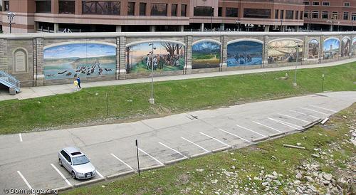 Roeblings Bridge Murals copyright Dominique King via Midwest Guest blog