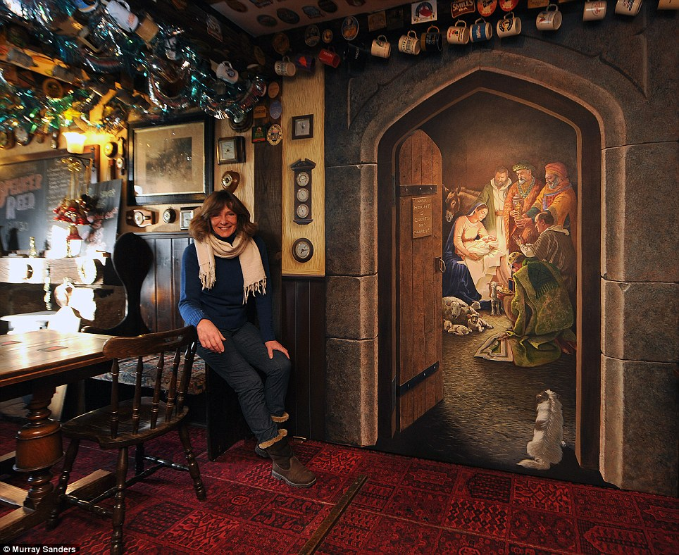 Janet Shearer\'s Nativity Mural. Photo by Murray Sanders