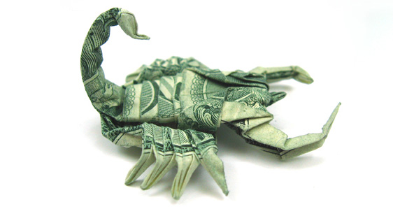 origami-scorpion by Won Park
