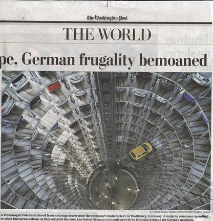 Car storage in Washington Post. Photo by John MacDougall/ via Getty Images