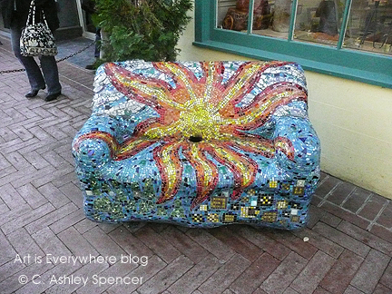 Mosaic Chair in Charlottesville. Photo by Piers Spencer. ArtisEverywhere