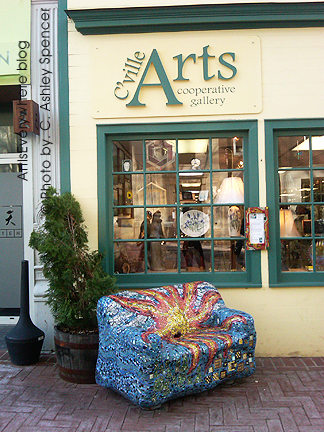 Mosaic Chair in Charlottesville. Photo by Peter Spencer. ArtisEverywhere