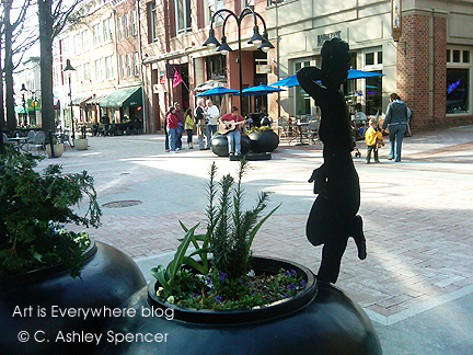 Musician plays in Charlottesville. Photo by Ashley Spencer. ArtIsEverywhere