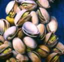 Open and Shut (Pistachio painting) by artist, Cindy Richmond