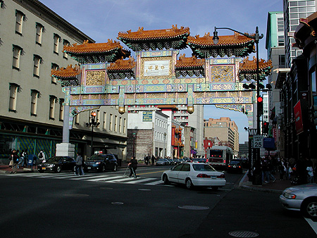 Sunlit China Town Gate by C. Ashley Spencer