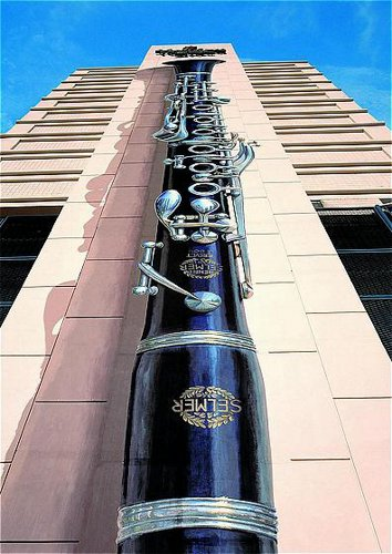 Clarinet Mural Close-Up — Holiday Day Inn Hotel, New Orleans