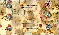 """""""Nexus 1-XX"""" Encaustic painting by Lorrain Glessner"""