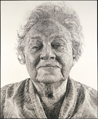 fannyfingerpainting by Chuck Close via National Gallery of Art on Art Is Everywhere
