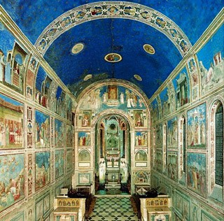 Scrovegni Chapel. Giotto's murals. Photo credit unknown