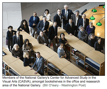 Current CASVA scholars at NGA. Photo by Bill O'leary. Washington Post