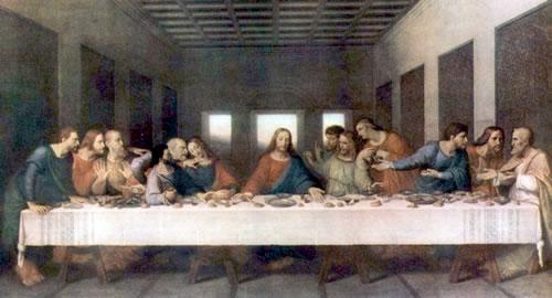 Leonardo da Vinci's Last Supper 1498 via About.com