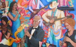 RACC_The Musicians Union Mural (2006) by Isaka Shamsud-Din, Joe Cotter, Hector Hernandez, and Baba Wagué Diakité
