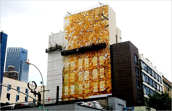 Leaf Mural. Photo by Hiroko Masuike for The New York Times, as seen on Art Is Everywhere