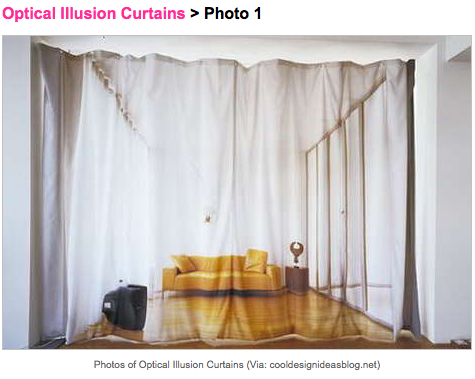 Optical-IllusionCurtains_Trendhunter, as seen on Art Is Everywhere