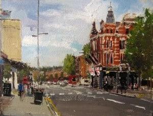 Adebanji Alade, London, oil sketches, via Urban Sketchers, as seen on Art Is Everywhere