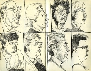 audienceLO by TommyKane, via Urban Sketchers, as seen on Art Is Everywhere