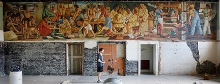 schoenberger mural uncovered, Times Picayune, as seen on Art Is Everywhere