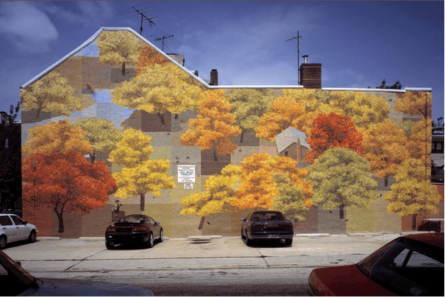 Autumn mural by David Quinn as seen on Art Is Everywhere