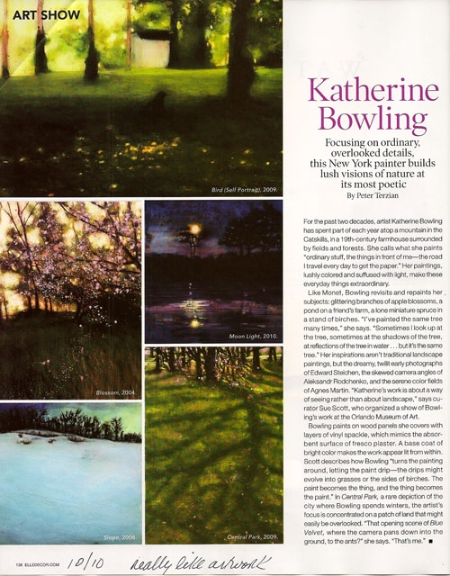 Katherine-Bowling_via Elle Decor, October 2010 issue, as seen on Art Is Everywhere