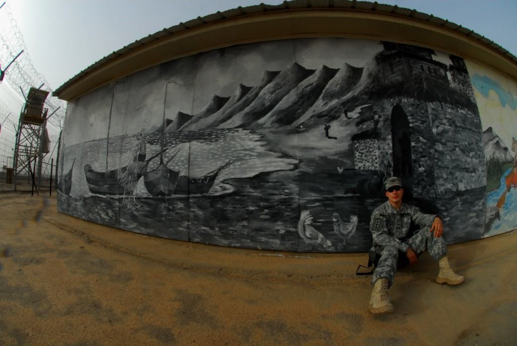 detainee mural on army.mil from homepage of United States Army, on Art Is Everywhere