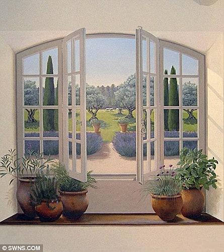 Trompe l'oeil window by Janet Shearer, seen on Art is Eveywhere