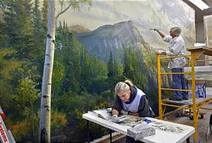 Morman Temple Mural on Art Is Everywhere via LDS News