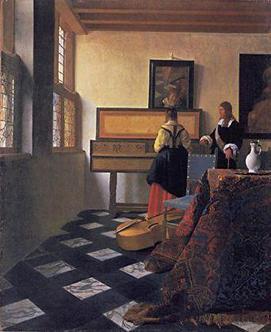 Vermeer's Music Lesson via Vermeer's Cameral, as seen on Art Is Everywhere