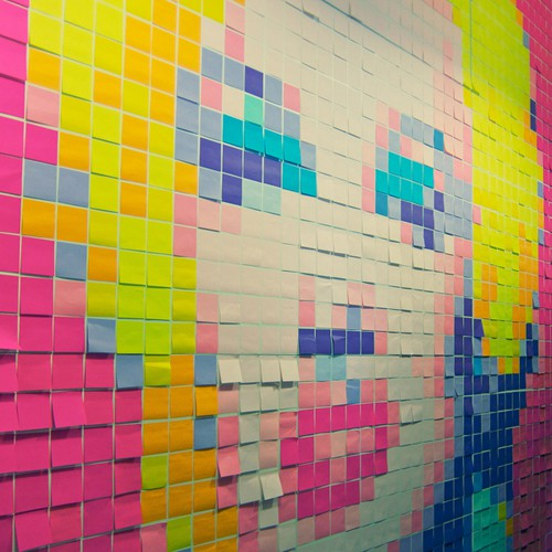 1-b_Postit_Marilyn from Buzzfeed on Art Is Everywhere