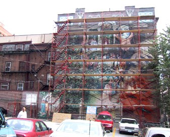 Progress Mural in progress. Photo by Dietrich Adonis_ Mural Database, on AIE