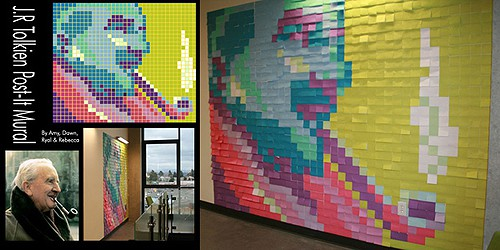 JRTolkien Post-it Note mural from Buzzfeed on Art Is Everywhere