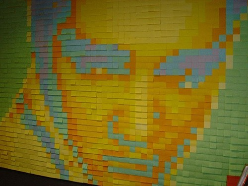 Post-it_portrait from Buzzfeed on Art Is Everywhere