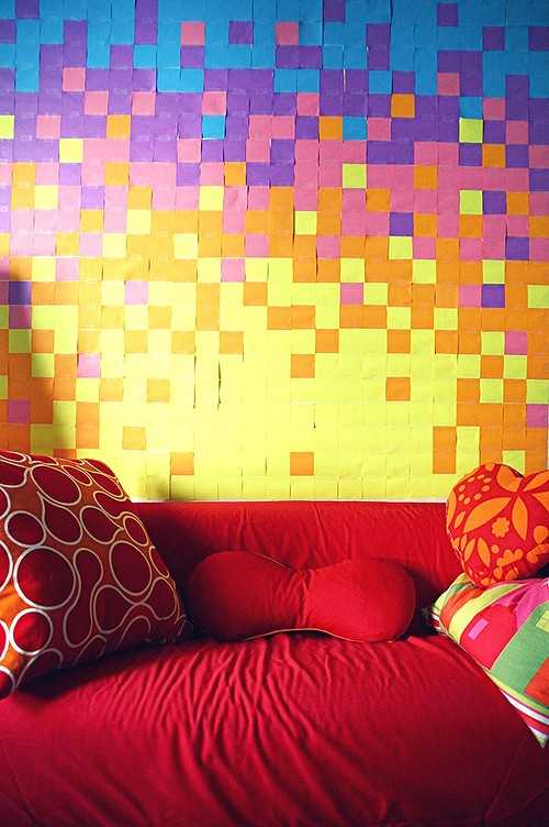 Abstract Post-it Note design from Buzz Feed on Art Is Everywhere